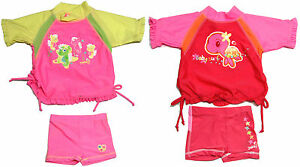 Girls-Rash-Top-amp-Pant-Set-Size-00-0-amp-1-Rashie-Swim-Yabby-Bathers-New