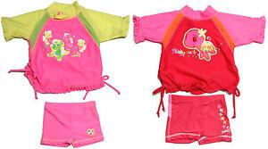 Girls-Rash-Top-Pant-Set-Size-00-0-1-Rashie-Swim-Yabby-Bathers-New