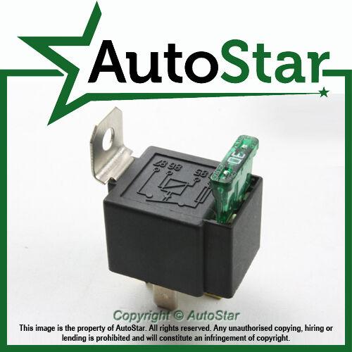 30 Amp Fused On Off Relay - 4 Pin 12v 30amp fuse,12 volt v a,  base holder light