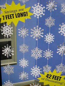6-CHRISTMAS-FROZEN-SNOW-FLAKE-STRINGS-EACH-SNOWFLAKE-STRING-IS-7FT-LONG