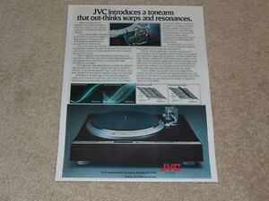 JVC QL-Y5F Ultimate Turntable Ad ,1979, 1 pg, Article, Rare Info!