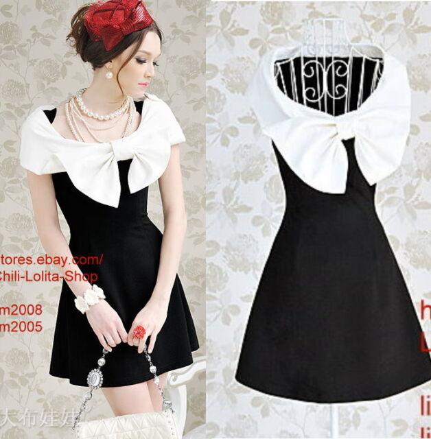 OL Kawaii Fashion Dolly sweet Cute elegant Princess Lolita White Cape BOW Dress