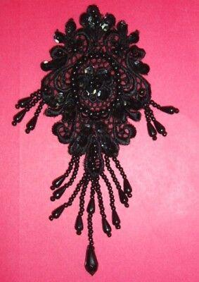 0133  Venise Venice Lace Beaded Sequin Applique 3 color