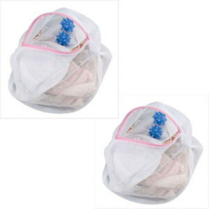 2-Mesh-Lingerie-Zipper-Wash-Bags-w-Washer-Dryer-balls