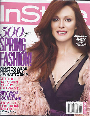 In Style Magazine Julianne Moore Spring Fashion Jeans Shopping Skincare Hair