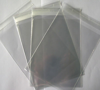 C6 Clear Cello Bags With Self Seal Strip - 25 Pack