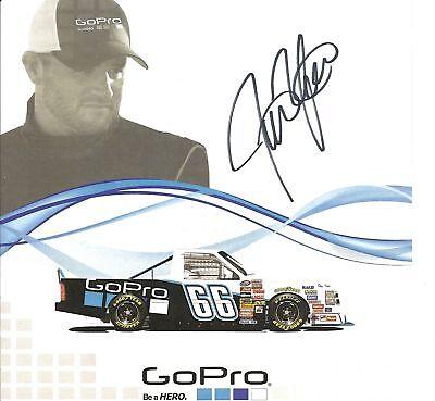2011 JUSTIN MARKS #66 GoPro NASCAR CWTS POSTCARD SIGNED