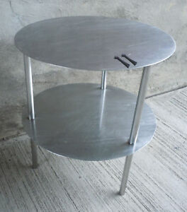 Bon Image Is Loading Vintage Industrial 2 Tier Round Stainless Steel Table
