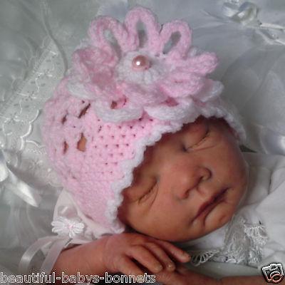 CROCHET PATTERN for Baby Girls Dainty Daisy Flower Beanie Hat 0-3 3-6 mths  #34