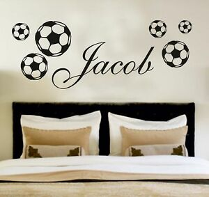 Your-Name-Personalised-Wall-Art-Stickers-Kids-Football-Soccer-Custom-Decor
