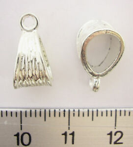 5-SILVER-PLATED-SP-WAVY-CHARM-PENDANT-HANGING-BAIL-with-CLOSED-LOOP-14mm