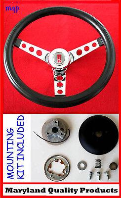 """1964-1966 Oldsmobile F85 442 Cutlass 98 Black Steering Wheel 13 1/2"""""""