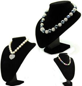 Black-Velvet-Jewellery-Bust-Necklace-Display-Stands