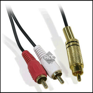 1-RCA-male-to-2-RCA-male-subwoofer-Y-cable-10FT-3M