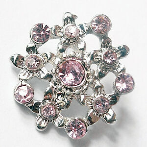 1pcs-FREE-SHIPPING-Gorgeous-Pink-Rhinestone-Metal-Shank-Buttons-R24D1-20MM