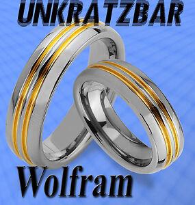WOLFRAM-RINGE-amp-GRAVUR-GRATIS-TRAURINGE-m-GOLD-Platierung-Titan-Look ...