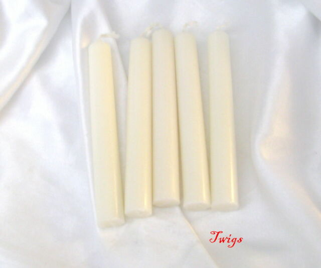 "White 4"" Ritual Chimes Candles 5 pack Wiccan Hoo Doo"