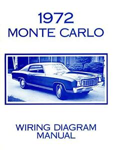 1972 chevrolet monte carlo wiring diagram manual ebay rh ebay com 2002 monte carlo wire diagram 1972 monte carlo wire diagram