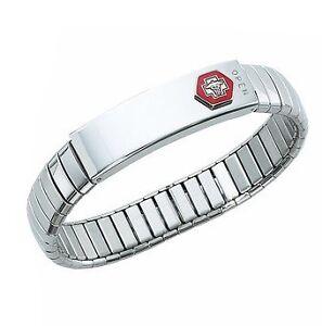 NEW-Stainless-Steel-MEDICAL-ALERT-ID-Bracelet-LARGE