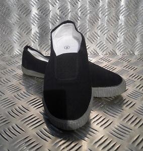 Genuine-British-Police-MoD-Black-Training-Shoes-Plimsoles-Plimsolls-NEW