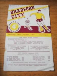 24-10-1964-Bradford-City-v-Darlington-Creased-amp-Rust-Marks-No-obvious-faults