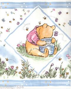 DISNEY-Classic-Winnie-The-Pooh-Bear-Baby-Blue-Nursery-Kid-Wall-paper-Border