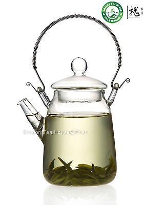 Metal Handle Clear Glass Teapot 300ml FH-206