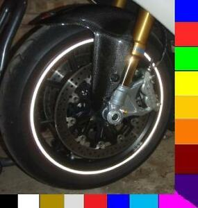 BLACK REFLECTIVE MOTORCYCLE CAR RIM STRIPES WHEEL DECALS TAPE - Vinyl stripes for motorcycles