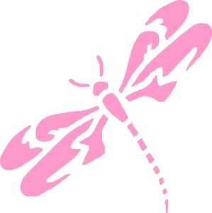 Dragonfly vinyl car decals graphics 5 x 5 left ebay for Dragonfly mural