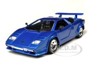 lamborghini countach 5000 quattrovalvole blue 1 24 model car by bburago 22087 ebay. Black Bedroom Furniture Sets. Home Design Ideas