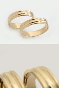 Schlichter goldring  Schlichter Goldring 585 - Bandring - Ehering - Trauring - Ring ...