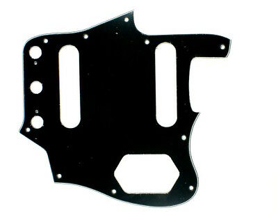 Custom Guitar Pickguard Fits Jaguar Jag ,3ply Black /Vintage Reissued