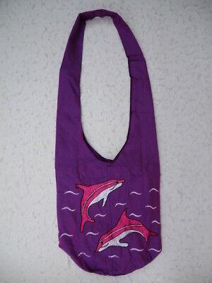 Tasche Umhängetasche Beutel Delfin Delphin Stickerei Hawaii Urlaub