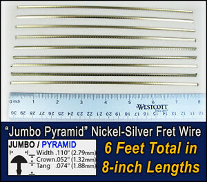6 feet jumbo pyramid profile frets fret wire for guitars basses more 10 06 01 ebay. Black Bedroom Furniture Sets. Home Design Ideas
