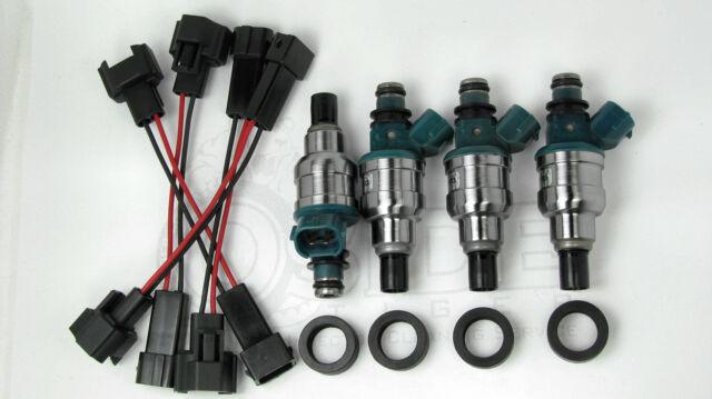 550cc Honda Civic Integra Turbo D16 B16 B18 Fuel Injectors Plug & Play for OBD2