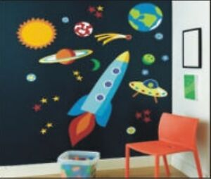 HUGE-SPACE-ROCKETS-Childrens-Kids-Girl-Boys-Nursery-B-edroom-Decor-Wall-Stickers