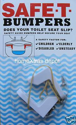 Safe T Bumpers  Help Secure Your Wooden Toilet Seat   Elderly Unsteady Children