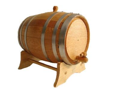 3 liter Steel Band Oak BARREL / CASK for whiskey, tequila, wine, bourbon