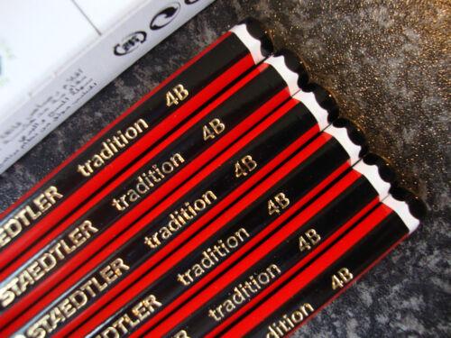 12 X Staedtler Tradition Lápices de Dibujo 6b 5b 4b 3b 2b B Hb F H 2h 3h 4h