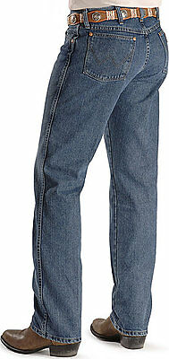 WRANGLER Men COWBOY CUT - PREMIUM - STRETCH Jeans 46 X 34 - Stonewash - 47MACSB