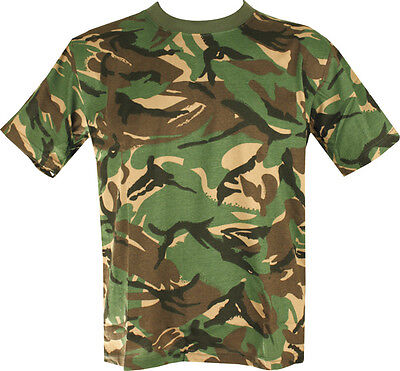 New MENS MILITARY CAMOUFLAGE CAMO T SHIRT ARMY COMBAT
