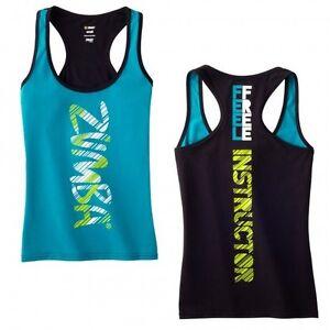 Zumba-Feel-Free-Instructor-Racerback-Zumbawear-Dance-Top-ZIN-Members-Only
