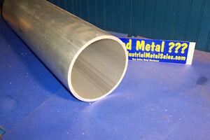 """4-1/2"""" OD x 4"""" ID x 24"""" x 1/4"""" Wall 6061 Aluminum Round Tube-->4.5"""" OD x .250""""w"""