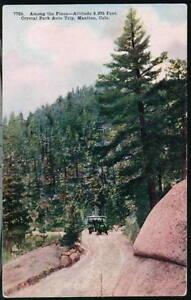 MANITOU-CO-Crystal-Park-Auto-Trip-Vtg-Colorado-Postcard
