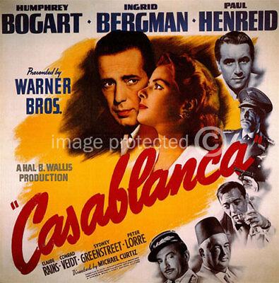 Casa Blanca Vintage Humphrey Bogart Movie Poster -24x36