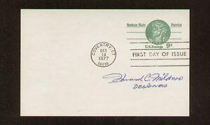 Howard-Mildner-signed-auto-FDC-Postcard-Stamp-Designer