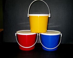 6-80-OUNCE-PLASTIC-BUCKETS-LIDS-2-EACH-RED-BLUE-YELLOW-MFG-USA-NO-BPA-LEAD-FREE