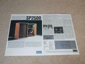 Sansui SP-2500 Speaker Brochure, 2 pg, 1975, Articles