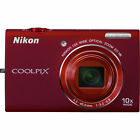 Nikon COOLPIX S6200 16.0MP Digital Camera - Red