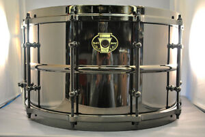 Ludwig-Black-Magic-8x14-Brass-Snare-Drum-FREE-SHIPPING